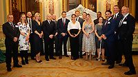 07 February 2019 - Prince Harry Duke of Sussex and Meghan Markle Duchess of Sussex and Meghan Markle Duchess of Sussex pose with the nominees and guests during the annual Endeavour Fund Awards at Draper's Hall in London. The Royal Foundation's Endeavour Fund Awards celebrate the achievements of wounded, injured and sick servicemen and women who have taken part in sporting and adventure challenges over the last year. Photo Credit: ALPR/AdMedia