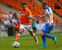 Blackpool's John O'Sullivan takes on Portsmouth's Matt Clarke<br /> <br /> Photographer Alex Dodd/CameraSport<br /> <br /> The EFL Sky Bet League One - Blackpool v Portsmouth - Saturday August 11th 2018 - Bloomfield Road - Blackpool<br /> <br /> World Copyright &copy; 2018 CameraSport. All rights reserved. 43 Linden Ave. Countesthorpe. Leicester. England. LE8 5PG - Tel: +44 (0) 116 277 4147 - admin@camerasport.com - www.camerasport.com