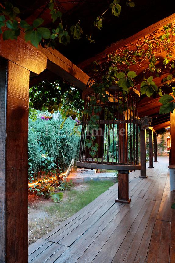 wooden patio