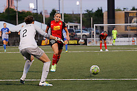 Rochester, NY - Friday June 24, 2016: Jami Kranich, Adriana Leon during a regular season National Women's Soccer League (NWSL) match between the Western New York Flash and the Boston Breakers at Rochester Rhinos Stadium.