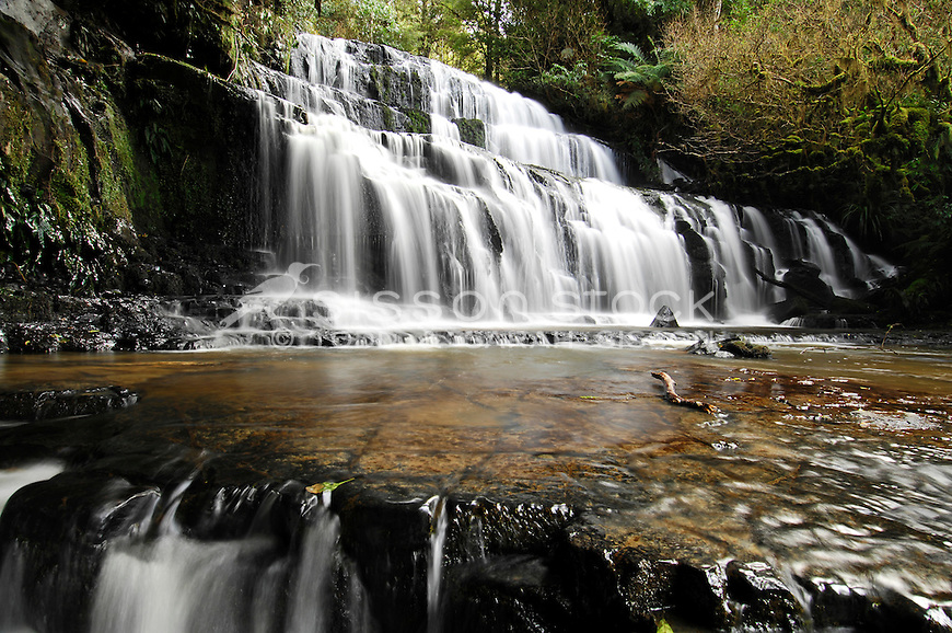 The Purakanui Falls in the Catlins Forest Park in Otago