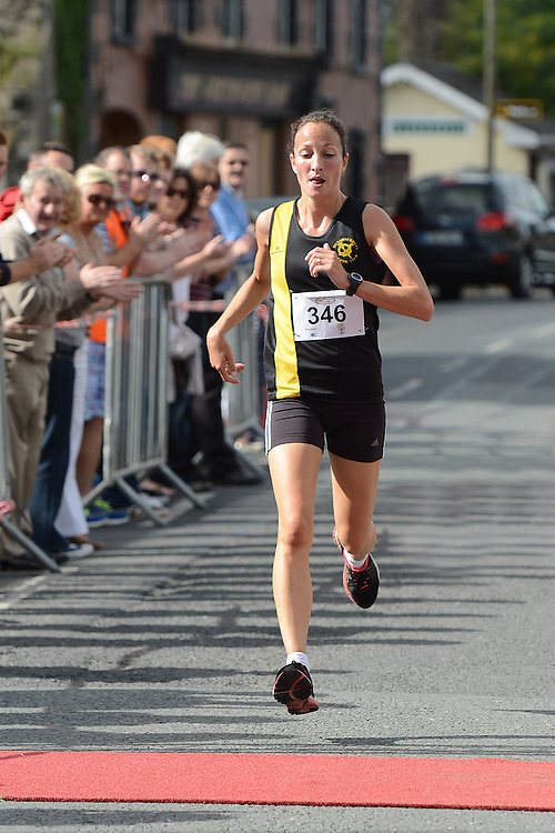 Fiona O'Rourke from Dunshaughlin AC was first lady home in the Duleek 10K run. Photo:Colin Bell/pressphotos.ie