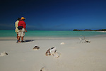 THE BEACH OF LOS ROQUES WHILE FLY FISHING