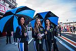 VALENCIA, SPAIN - NOVEMBER 11: Moto GP girls during Valencia MotoGP 2016 at Ricardo Tormo Circuit on November 11, 2016 in Valencia, Spain