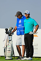 Subhankar Sharma (IND) during the first round of the NBO Open played at Al Mouj Golf, Muscat, Sultanate of Oman. <br /> 15/02/2018.<br /> Picture: Golffile | Phil Inglis<br /> <br /> <br /> All photo usage must carry mandatory copyright credit (&copy; Golffile | Phil Inglis)
