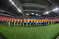 A steward exercise before Lille OSC vs Chelsea, UEFA Champions League Football at Stade Pierre-Mauroy on 2nd October 2019