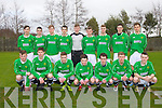 Kerry youth cup Team Front l-r Aaron O'Keeffe, Mike Leen, Shane Lowth, Adam O'Rourke, Paddy Collins, Aidan Mulvaney, Denis Cosgrove, Back i-r  Claudio Dema, Ryan Dolan, Cian Kennedy, James Duggan, Eoghan O'Brien, Fionn Coakley, Jesse O'Sullivan, Sean Kelliher, Thomas Phelan who played against DDSL in the Youths Cup at Mounthawk park on Sunday