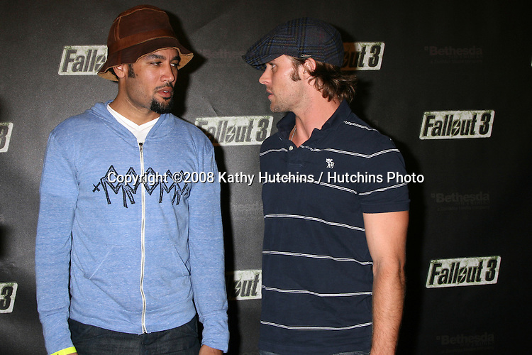 """Ben Harper & Jesse Spencer arriving at the Launch of """"Fallout 3"""" Videogame at the LA Center Studios  in Los Angeles, CA.October 16, 2008.©2008 Kathy Hutchins / Hutchins Photo...                ."""