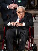 Former United States Secretary of State Henry Kissinger awaits the start if the lying in State ceremony honoring the late US Senator John McCain (Republican of Arizona) in the US Capitol Rotunda in Washington, DC on Friday, August 31, 2018.<br /> Credit: Ron Sachs / CNP<br /> <br /> (RESTRICTION: NO New York or New Jersey Newspapers or newspapers within a 75 mile radius of New York City)