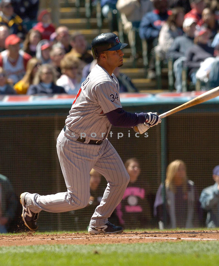 Juan Castro of the Minnesota Twins, in action against the Indians on April 9, 2006...Indians win 3-2..David Durochik / SportPics