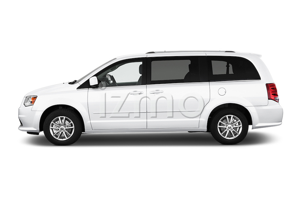Car Driver side profile view of a2015 Dodge Grand Caravan SXT PLUS 5 Door Minivan Side View