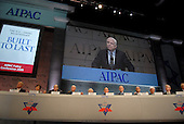 Washington, D.C. - June 2, 2008 -- American Israel Public Affairs Committee (AIPAC) senior leaders listen as United States Senator John McCain (Republican of Arizona), the presumptive 2008 Republican nominee for President of the United States, speaks at the annual AIPAC Policy Conference in Washington, D.C. on Monday, June 2, 2008.  In his remarks, Senator McCain reaffirmed his solid support for the State of Israel..Credit: Ron Sachs / CNP