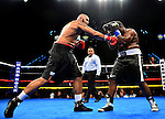 HOLLYWOOD, FL - SEPTEMBER 05: Grover Young (R), fight Maurice Harris during the World Heavyweight Champions Fight Night at Hard Rock Live! in the Seminole Hard Rock Hotel & Casino on September 5, 2015 in Hollywood, Florida. Briggs won the bout by second round KO. ( Photo by Johnny Louis / jlnphotography.com )