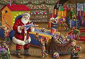 Interlitho, CHRISTMAS SANTA, SNOWMAN, WEIHNACHTSMÄNNER, SCHNEEMÄNNER, PAPÁ NOEL, MUÑECOS DE NIEVE, paintings+++++,santa's workshop,KL6066,#X# ,Marcello