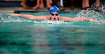 JCC's Sarah Anderson competes in the 50 yard fly race during the 53rd annual Country Club Swimming Championships on Tuesday, Aug. 7, 2012, in Kearns, Utah. (© 2012 Douglas C. Pizac)