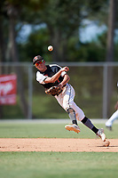 Christian Knapczyk during the WWBA World Championship at the Roger Dean Complex on October 19, 2018 in Jupiter, Florida.  Christian Knapczyk is a shortstop from Plainfield, Illinois who attends Joliet Catholic Academy and is committed to Louisville.  (Mike Janes/Four Seam Images)