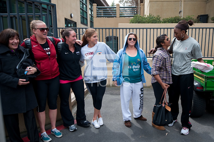 STANFORD, CA--2012 NCAA Women's Final Four departure from Maples Pavilion.