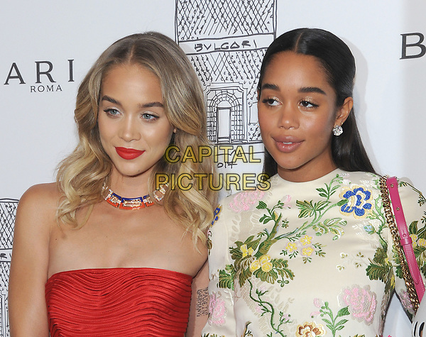 NEW YORK, NY - OCTOBER 19: Jasmine Sanders and Laura Harrier attends the re-opening of the  Bulgari flagship store on Fifth Avenue in New York City on October 20, 2017. <br /> CAP/MPI/JP<br /> &copy;JP/MPI/Capital Pictures