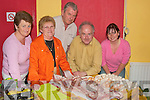 Pat Lawlor, second from right Corrigkerry and Abbeyfeale was joined at his stall in for the fundraising Market  in Athea on Sunday by, from left  Margaret Kelly, Listowel, Peg Woulfe, and Gery Griffin, Athea Pat Lawlor, Carrigkerry and Rita Collins Athea. ....   Copyright Kerry's Eye 2008