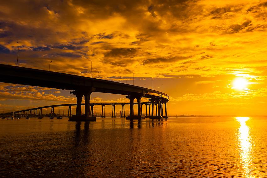 Coronado Bridge, Coronado Island (San Diego), California USA.