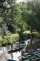 Europe/France/Poitou-Charentes/79/Deux-Sèvres/Arçais: Promenade en barque sur le marais poitevin AUTO N°2010-109 et AUTO N°2010-110