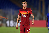 Nicolo Zaniolo of AS Roma during the Serie A football match between AS Roma and ACF Fiorentina at stadio Olimpico in Roma (Italy), July 26th, 2020. Play resumes behind closed doors following the outbreak of the coronavirus disease. <br /> Photo Antonietta Baldassarre / Insidefoto