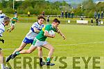 Thomas Kerans, John Mitchels and Tomás Lynch, Castleisland Desmonds do battle in the County League, Div 2 last Saturday evening at Camp, Ballyseedy, Tralee.