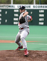 May 5, 2004:  Starting pitcher Dave Coggin (48) of the Scranton-Wilkes Barre Red Barons, Class-AAA International League affiliate of the Philadelphia Phillies, during a game at P&C Stadium in Syracuse, NY.  Photo by:  Mike Janes/Four Seam Images