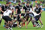 (L) Mitchell Crosswell, Jacob Skeen, Ben May, Matt Proctor. Tawera Kerr-Barlow with ball. Maori All Blacks vs. Fiji. Suva. MAB's won 27-26. July 11, 2015. Photo: Marc Weakley