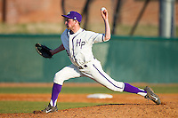 High Point Panthers relief pitcher Jeremy Johnson (14) in action against the Bowling Green Falcons at Willard Stadium on March 9, 2014 in High Point, North Carolina.  The Falcons defeated the Panthers 7-4.  (Brian Westerholt/Four Seam Images)