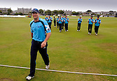 Scottish Saltires V Leicester Foxes, CB40 series, at Mannofield, Aberdeen - Scotland's Gavin Hamilton steps over the boundary to end his 17 year international career, made all the better for a victory for the Scots against the Foxes, the second such result this season - Picture by Donald MacLeod 22.06.10 - mobile 07702 319 738 - words (if required) from William Dick 077707 83923
