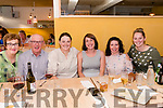 DOUBLE CELEBRATION: Pictured in Emilie's, Glenbeigh's newest Restaurant/Pizzeria & Bakery, on Saturday evening was Sinéad Riordan who was celebrating both her birthday and joining the family firm, Glenbeigh Shellfish as Sales Director with l-r: Patricia, Noel and Sinéad Riordan, Joanne Falvey, Hazel Cournane and Katy Grahan.