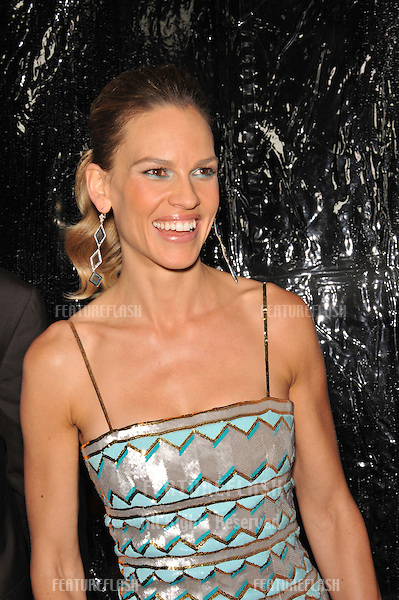 "Hilary Swank at the premiere of her new movie ""Conviction"" at the Academy of Motion Picture Arts & Sciences in Beverly Hills..October 5, 2010  Los Angeles, CA.Picture: Paul Smith / Featureflash"
