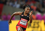 Semoy HACKETT (TTO) in the womens 200m heats. IAAF world athletics championships. London Olympic stadium. Queen Elizabeth Olympic park. Stratford. London. UK. 08/08/2017. ~ MANDATORY CREDIT Garry Bowden/SIPPA - NO UNAUTHORISED USE - +44 7837 394578