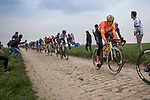 Greg Van Avermaet (BEL) CCC Team in action during the 117th edition of Paris-Roubaix 2019, running 257km from Compiegne to Roubaix, France. 14th April 2019<br /> Picture: Thomas van Bracht/PelotonPhotos.com | Cyclefile<br /> All photos usage must carry mandatory copyright credit (&copy; Cyclefile | Thomas van Bracht/PelotonPhotos.com)