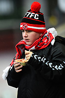 A Fleetwood Town fan enjoys a pre-match pie<br /> <br /> Photographer Richard Martin-Roberts/CameraSport<br /> <br /> The EFL Sky Bet League One - Saturday 15th December 2018 - Fleetwood Town v Burton Albion - Highbury Stadium - Fleetwood<br /> <br /> World Copyright &not;&copy; 2018 CameraSport. All rights reserved. 43 Linden Ave. Countesthorpe. Leicester. England. LE8 5PG - Tel: +44 (0) 116 277 4147 - admin@camerasport.com - www.camerasport.com