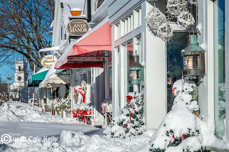 Fresh snow in Chatham, Cape Cod, Massachusetts, USA