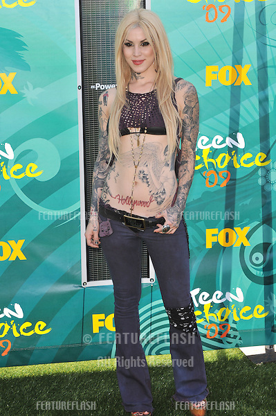 Kat Von D at the 2009 Teen Choice Awards at the Gibson Amphitheatre, Universal City..August 9, 2009  Los Angeles, CA.Picture: Paul Smith / Featureflash