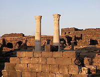 Corinthian columns, Roman ruins, 2nd century AD, Bosra, Syria Picture by Manuel Cohen