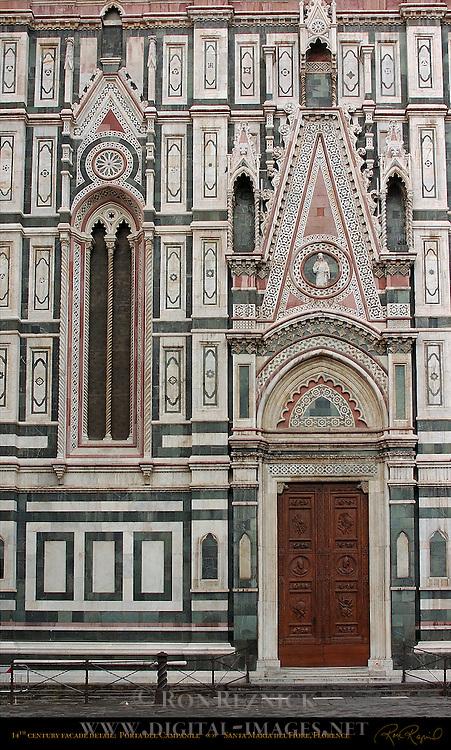 14th c Facade detail Porta della Campanile Andrea Orcagna Taddeo Gaddi Santa Maria del Fiore Florence