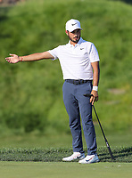 Potomac, MD - July 1, 2018: Abraham Ancer tries to direct his putt during final round at the Quicken Loans National Tournament at TPC Potomac  in Potomac, MD, July 1, 2018.  (Photo by Elliott Brown/Media Images International)
