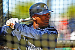 2 March 2009: New York Yankees' outfielder Austin Jackson takes batting practice prior to a Spring Training game against the Houston Astros at Osceola County Stadium in Kissimmee, Florida. The teams played to a 5-5, 9-inning tie. Mandatory Photo Credit: Ed Wolfstein Photo