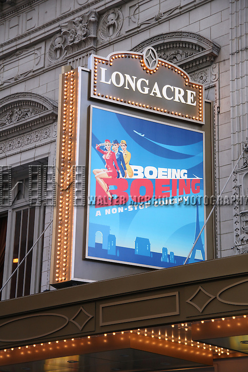 """Atmosphere at BOEING BOEING playing at the Longacre Theatre during.""""Black Sunday on Broadway"""" with nine productions closing all on the same Sunday afternoon..January 4, 2009.© Walter McBride /"""