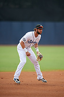 Biloxi Shuckers third baseman Weston Wilson (2) during a Southern League game against the Montgomery Biscuits on May 8, 2019 at MGM Park in Biloxi, Mississippi.  Biloxi defeated Montgomery 4-2.  (Mike Janes/Four Seam Images)