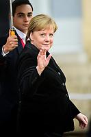 Angela Merkel - Chanceliere federal d Allemagne<br /> Parigi 11-11-2018 <br /> Eliseo Pranzo Ufficiale Capi di Stato <br /> Commemorazione 100 anni dalla fine della Grande Guerra, Prima Guerra Mondiale <br /> Foto JB Autissier/Panoramic / Insidefoto