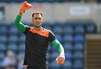Blackpool's Christoffer Mafoumbi during the pre-match warm-up <br /> <br /> Photographer Kevin Barnes/CameraSport<br /> <br /> The EFL Sky Bet League One - Wycombe Wanderers v Blackpool - Saturday 4th August 2018 - Adams Park - Wycombe<br /> <br /> World Copyright &copy; 2018 CameraSport. All rights reserved. 43 Linden Ave. Countesthorpe. Leicester. England. LE8 5PG - Tel: +44 (0) 116 277 4147 - admin@camerasport.com - www.camerasport.com