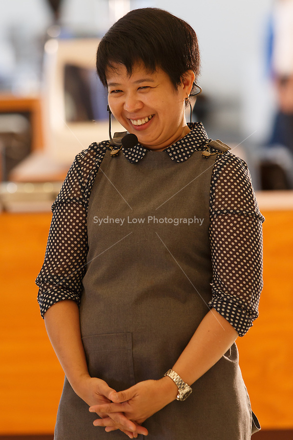 MELBOURNE, AUSTRALIA - MARCH 02: Hazel De Los Reyes competing in the semi finals of the 2013 AASCA Barista Championship at the Melbourne Showgrounds on 2 March 2013 in Melbourne, Australia. (Photo by Sydney Low / syd-low.com)