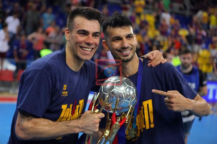 League LNFS 2018/2019.<br /> Play Off. Game: 5.<br /> FC Barcelona Lassa vs El Pozo Murcia: 3-2.<br /> Sergio Lozano & Esquerdinha.