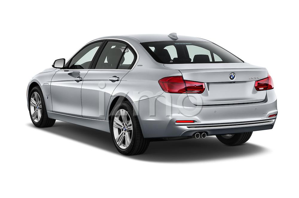 Car pictures of rear three quarter view of 2017 BMW 3-Series 330e-iPerformance 4 Door Sedan Angular Rear