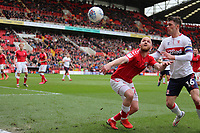 Jonathan Williams of Charlton Athletic holds off Jonathan Howson of Middlesbrough during Charlton Athletic vs Middlesbrough, Sky Bet EFL Championship Football at The Valley on 7th March 2020